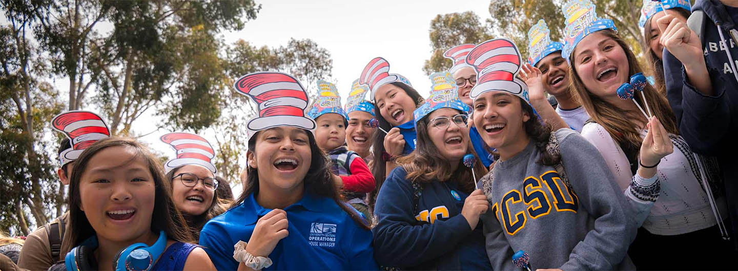 UC San Diego students celebrate at the annual Dr. Seuss birthday party