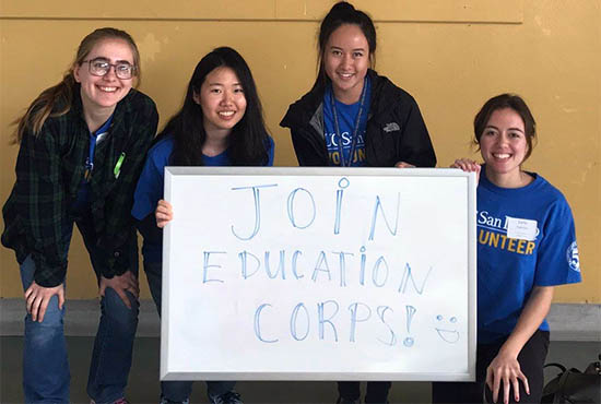 UC San Diego students in the EducationCorps program